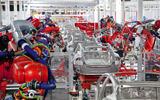 Tesla production line, California