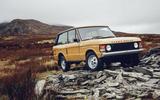 1978 two-door Range Rover off-roading