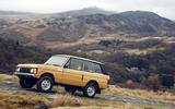 1978 two-door Range Rover going uphill
