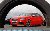 Audi RS3 front side through tyre