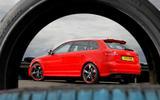 Audi RS3 profile through tyre