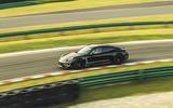 Porsche Taycan track drive - side