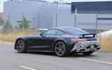 2019 Mercedes AMG GT spies side rear