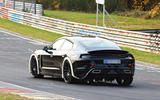 Porsche Mission E testing with advanced autonomous technology and active aerodynamics