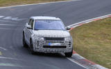2019 Range Rover Evoque spotted high-speed testing at the Nurburgring