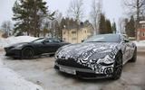 2018 Aston Martin Vantage spotted winter testing with AMG V8