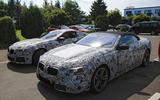 BMW 8 Series coupe and convertible sighting shows design differences