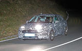 The new Seat Leon being tested under a camouflage wrap