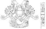 Maserati engine schematic