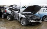 Crashed BMW 5 Series estate