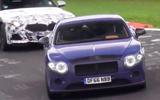 2018 Bentley Continental GT anti-roll system seen at work at Nürburgring