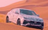 Lamborghini Urus on sand