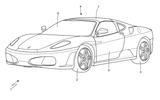 Ferrari Targa patent sketch