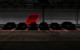 Audi darkened image showing six RS models