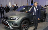 SEAT president Luca de Meo with the new Ateca X-PERIENCE