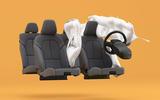 Polestar 2 side passenger airbag