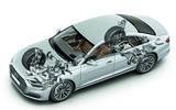 Audi A8 cutaway