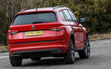 Skoda Kodiaq 4x4 Sportline 2018 UK review on the road rear