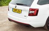 Skoda Octavia vRS diesel longterm review 245 rear end