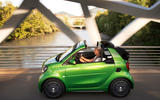 Smart Fortwo Cabriolet Electric Drive roof down