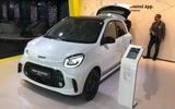 Smart EQ ForTwo at Frankfurt motor show - left