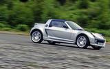 Smart Roadster cornering
