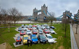 Collection of alternatively fuelled cars in London