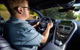 Saunders driving Aston Martin DB11 V8