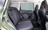 Subaru Forester eBoxer 2019 UK first drive review - rear seats