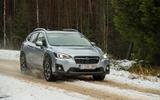 Subaru XV ice track