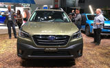Subaru Outback 2019 New York Motor Show reveal - nose
