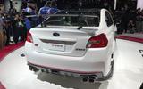 Subaru STI S209 Detroit motor show - exhausts
