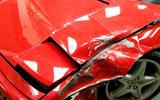 Damaged Ferraris at the breaker's yard