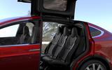 Tesla Model X rear falcon doors