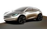 Tesla Model Y rendering