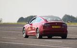 Thatcham ADAS testing Tesla rear
