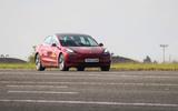 Thatcham ADAS testing Tesla driving