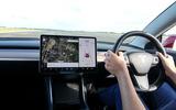 Thatcham ADAS testing Tesla dash