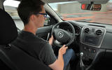Tisshaw driving the Dacia Sandero Stepway LPG