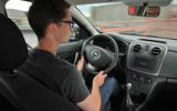 Tisshaw driving the Dacia Sandero Stepway LPG