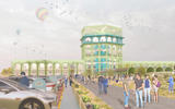 An imagination of what Forton Services on the M6 could look like