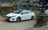 Toyota Prius PHEV parked up