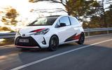 Toyota Yaris GRMN on the road
