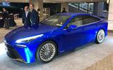 Toyota Mirai concept hydrogen fuel cell car - front