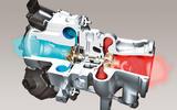 Turbocharger cutaway