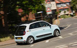 Renault Twingo rear cornering