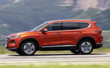Hyundai Santa Fe 2018 first drive review on the road side