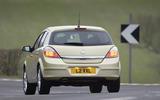 Vauxhall Astra SRi rear cornering