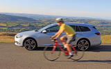 Vauxhall Insignia Sports Tourer cycling in Wales cyclist