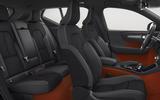 New Volvo XC40 interior red